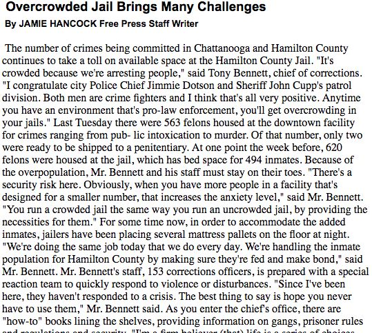 """front end solutions to overcrowding in prisons B county jail alternative: this second tier """"front end prison alternative"""" can better emphasize the risk that the felon has of being sent to prison like the """"community corrections alternative, the county jail alternative allows close monitoring by the sentencing judge, appropriate incentives and sanctions, and a return to the."""